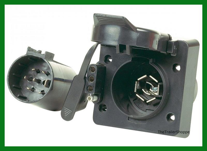 Hopkins 40955 MULTI TOW 7 Way RV 4 Flat Trailer Plug