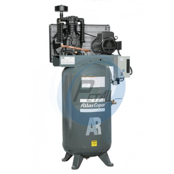 7 5 HP Piston Two Stage Air Compressor 25 CFM 100 PSI