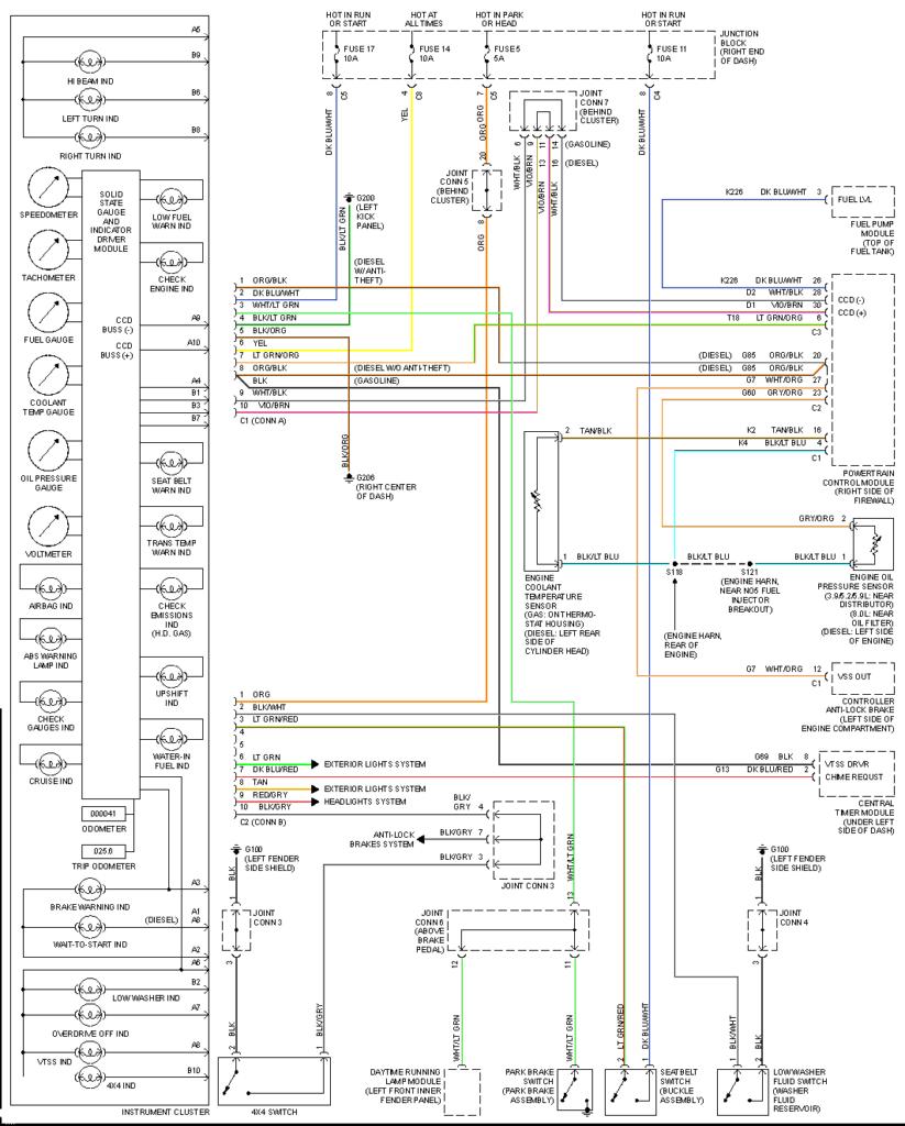 98 Dodge Ram Trailer Wiring Diagram Sample
