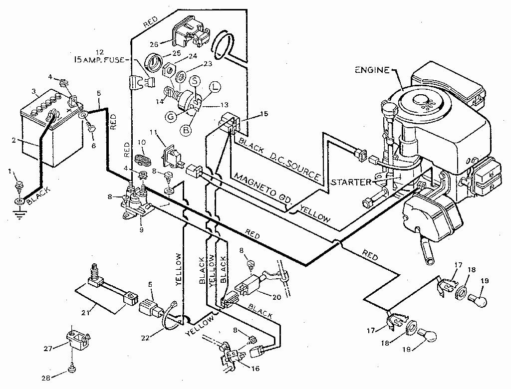 Craftsman Riding Lawn Mower Lt1000 Wiring Diagram Free