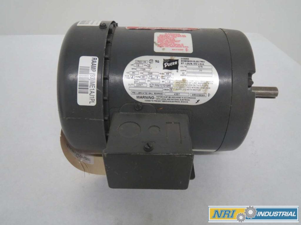 DOERR LR22132 AC 1 2HP 575V AC 1725RPM D56 3PH ELECTRIC