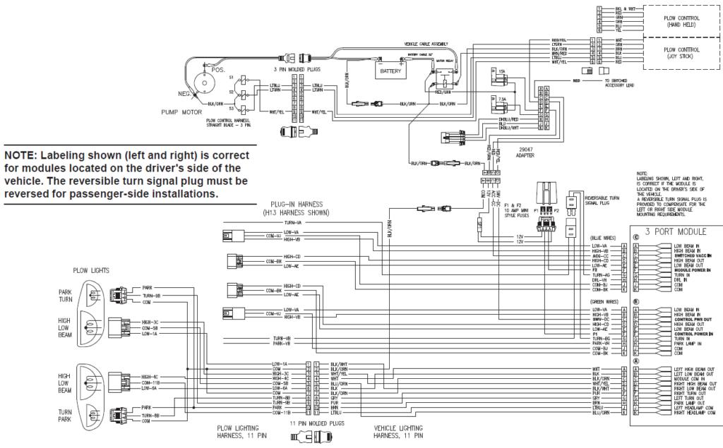 Fisher 3 Port 3 Plug Wiring Kit Isolation Module Truck