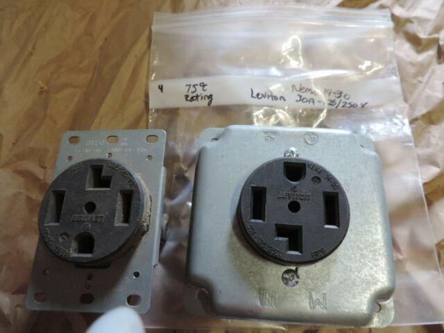 LEVITON NEMA 14 30 30AMP 125 250V RECEPTACLE OUTLET EBay