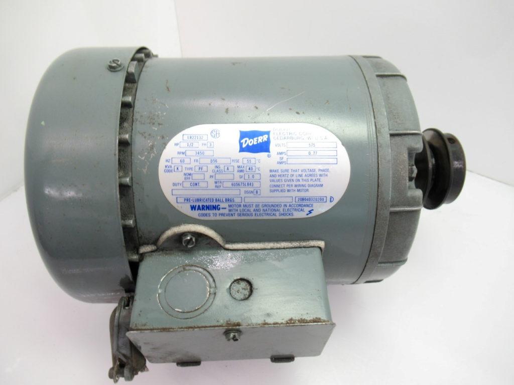 LR22132 DOERR Electric Motor 1 2hp 3ph 3450 3450rpm