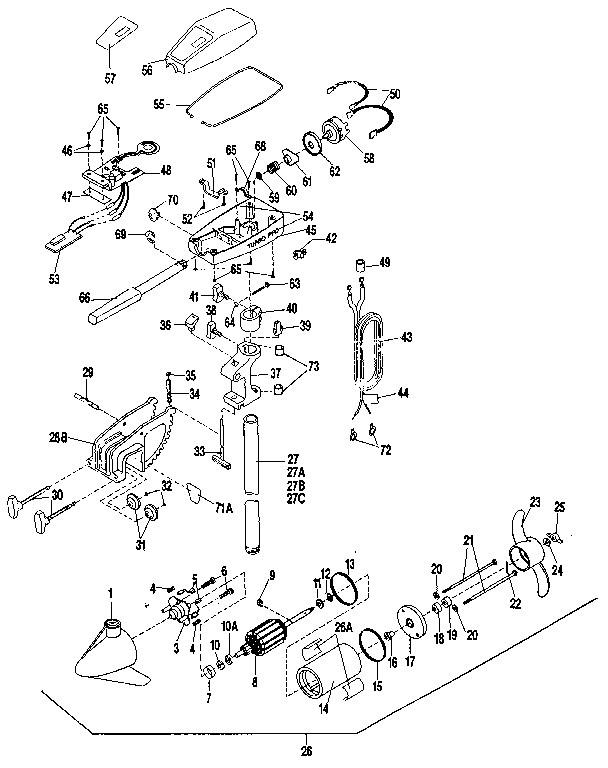 Minn Kota Riptide Trolling Motor Parts Diagram Bakemotor