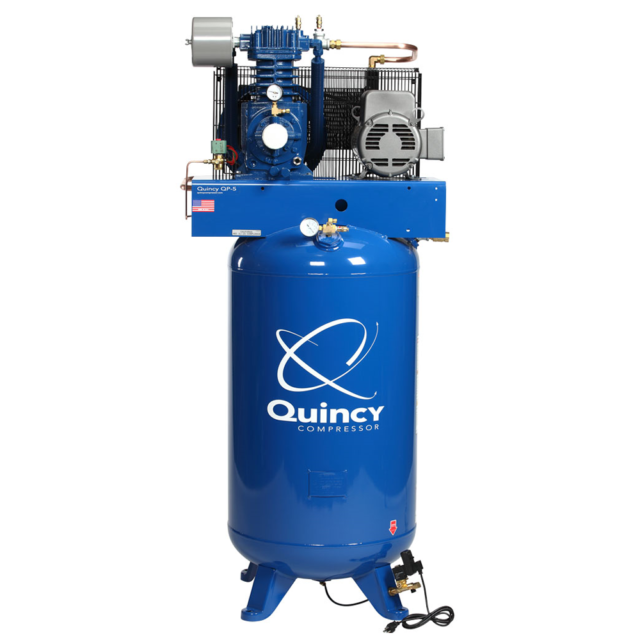 Quincy QP MAX 5 HP 80 Gallon Pressure Lubricated Two Stage
