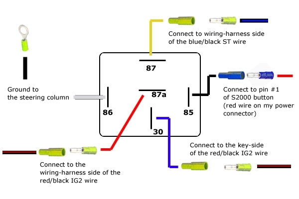 Relay 5 Pin Wiring Diagram Wiring Diagram And Schematic