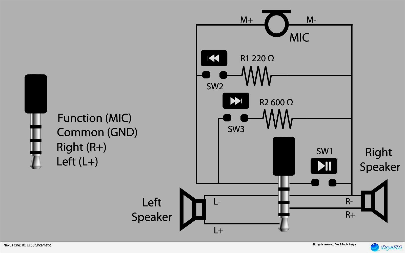 Stereo Headphone Jack Pinout With Wiring Diagram Also 3 5