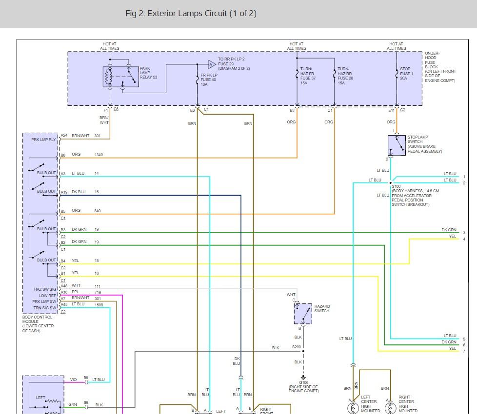 Tail Light Wiring Diagram 2006 Chevy Trailblazer Wiring