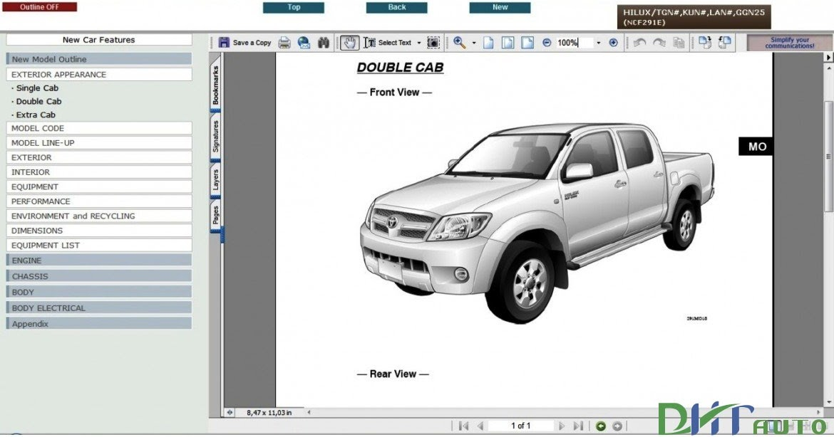 TOYOTA HILUX 2005 2011 SERVICE REPAIR INFORMATION