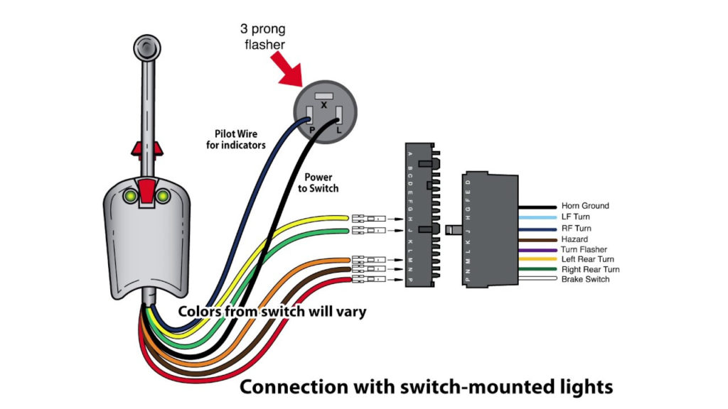Universal Bolt On Turn Signal Switch Wiring YouTube
