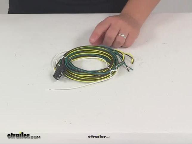 Wesbar 4 Way Flat Trailer Wiring Harness 20 Long Wesbar