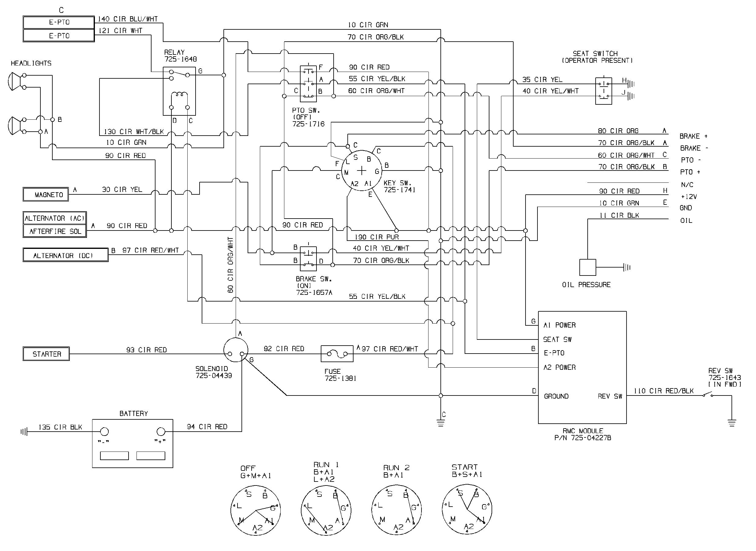 Wiring Diagram For Cub Cadet 1210