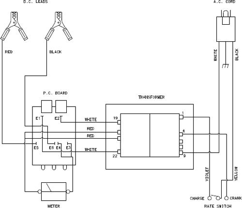 Wiring Schematic On Marquette Battery Charger Model32 132